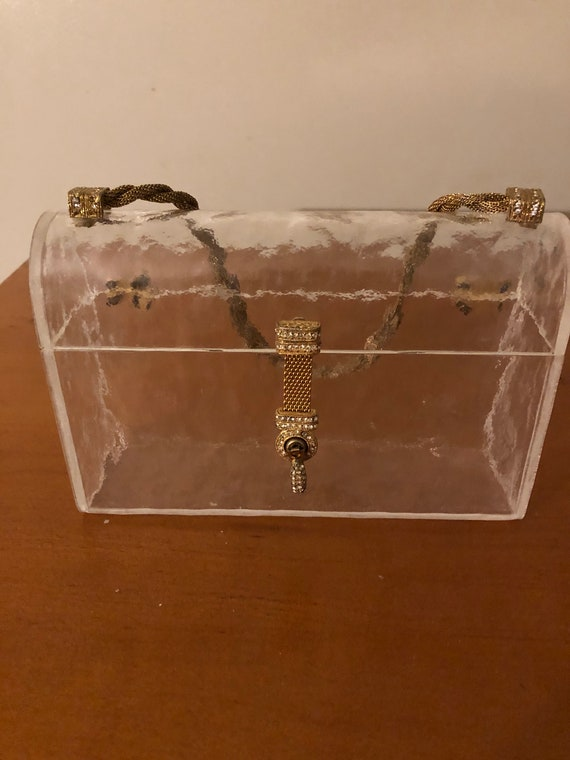 Clear Lucite Handbag