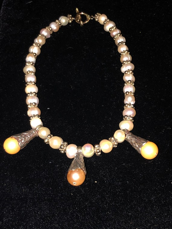 Unusual Natural Pearl Necklace