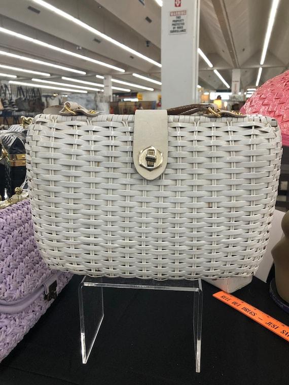White Wicker Handbag