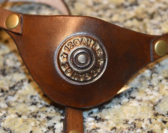Casing Leather eye patch with adjustable buckle - for permanent use - custom order