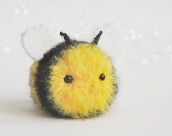 Bumble bee plush kids toy, bee stuff animal kawaii, honey bee decor, busy bee ornament for beekeeper or gardener gift