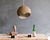 Industrial Pendant Light made from Paper - Globe Umbra Green