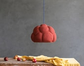 Pendant Light made from Paper Mache - Sensi I Red