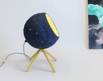 Floor Lamp Floor Light Wooden Lamp Industrial Floor Lamps Paper Lampshade Industrial Lighting Modern Lamp Paper Mache Lamp - Pluto Floor -