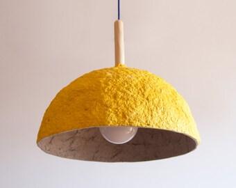 Pappmaché-Lampe Drop Lampe Pappmaché Hängelampe