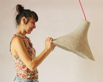 Pendant light Rumcajs Paper mache lamp Lamp Hanging lamp Pendant lamp grey Paper lamp Industrial lamp Paper pulp lamp eco
