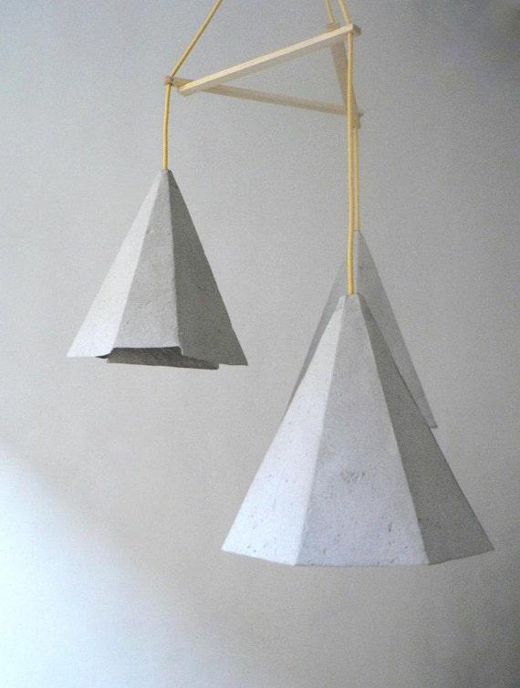 Pappmaché-Lampe Crystals II Lampe Pappmaché Hängelampe