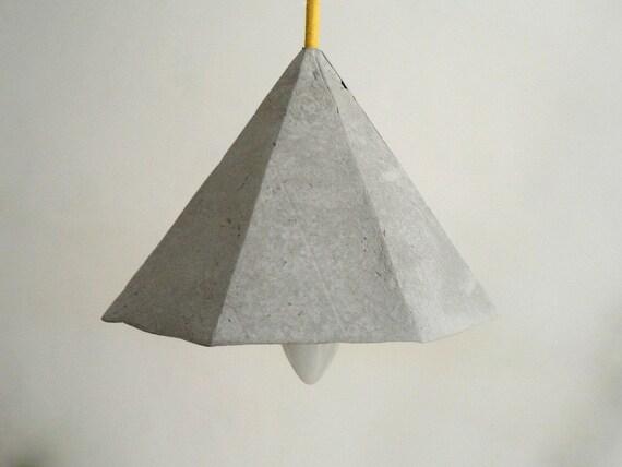 Lampadario Di Cartapesta : Lampada a sospensione di cartapesta hematite lampada etsy