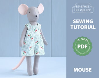 "PRIMITIVE 4/"" Regular-sized MOUSE Mice Sewing PAPER Pattern"
