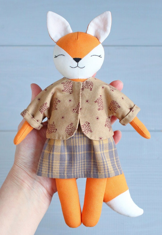 PDF Vintage Sewing Pattern Red Foxes Dolls with Clothing Instant Digital Download Retro Black Forest Austrian Foxes Sewn Soft Toys 22
