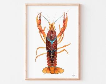 Louisiana Decor Gulf Coast Decor Wooden Crawdad Coastal Decor New Orleans Art, Wood Crawfish