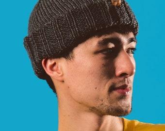 Cappello pescatore UNISEX grigio ~ handknit cappello 4ab8744bde90