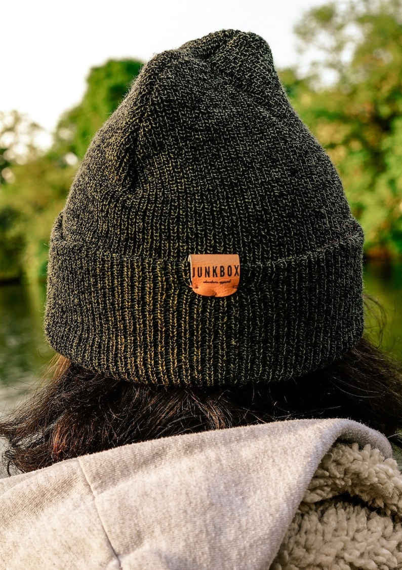 woolly hat retro hat gifts for her gifts for him hat unisex Forest Green UNISEX knitted beanie hat ~ headwear casual hat cuff beanie