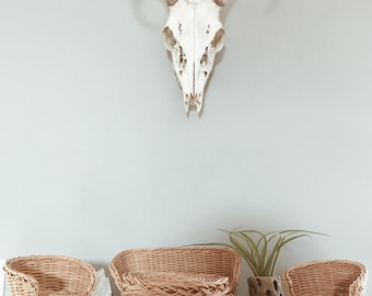 Woven wicker doll furniture