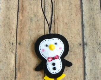 Tuxedo Felt Penguin Christmas Ornament
