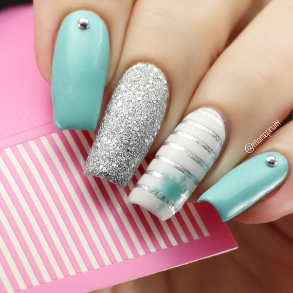 Skinny Straight Nail Vinyls 1mm Wide 400 Count Stripe Nail Etsy