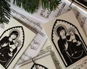 Renaissance Inspired Madonna and Child Christmas Card