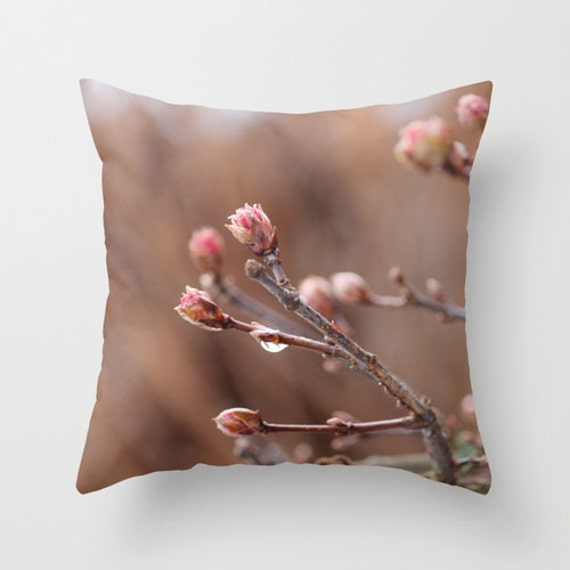 New Life Pillow Home Decoration Flower Tree Buds Mauve Etsy