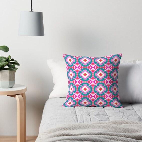 Awesome Modern Pillow Floral Pattern 6 Sizes 4 Fabrics Home Decor Geometric Decorative Pillow Interior Design Digital Art Spring Decor Fun Interior Design Ideas Inamawefileorg