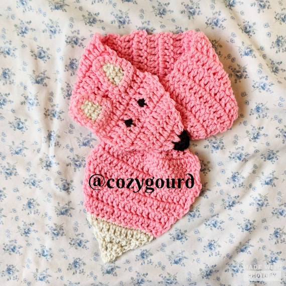 Pattern Only Fox Keyhole Scarf Crochet Pattern Crochet Fox Etsy