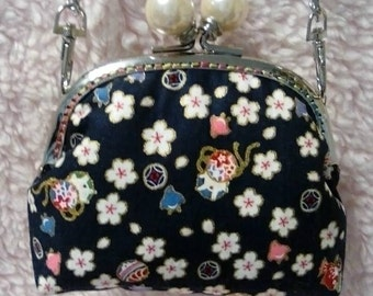Kiss lock frame Japan style Pattern Coin Bag Small Pouch Coin purse 12.5cm