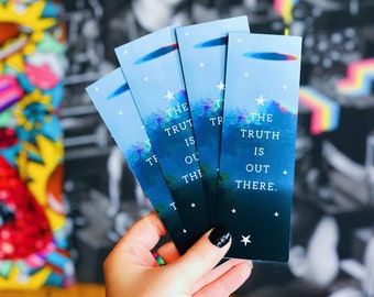 The Truth Is Out There Bookmark | Double Sided Bookmark | TV Shows | X-Files