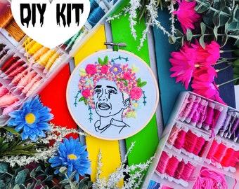 May Queen | DIY Embroidery Kit | Midsommar | Intermediate | Embroidery Kit | Hoop Art