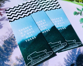 A Sort of Evil Pie Bookmark   Double Sided Bookmark   TV Shows   Twin Peaks