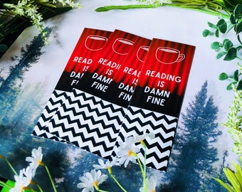 Damn Fine Reading Bookmark | Double Sided Bookmark | TV Shows | Twin Peaks