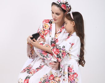 d05ac6b93ee29 Maternity set, delivery nursing dress, birthing gown, elder daughter robe,  newborn outfit, mommy and me robe, mother daughter matching dress