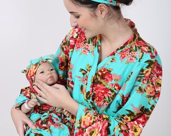 c46532b29f623 Labor and delivery, maternity robe, floral maternity set, nursing robe set,  feeding robe, delivery robe, pregnancy robe, mom and me robes