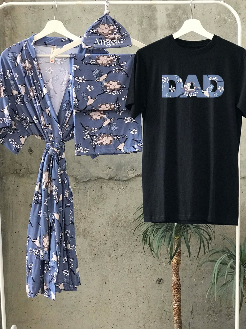 Dad shirt Baby blanket. Mommy and me outfits Maternity robe and swaddle set girl Maternity robe Mommy and me robe and swaddle set girl