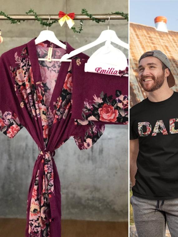 Papa bear shirt Big sister shirt Maternity robe Matching robe and swaddle set boy. Mommy and me robe and swaddle set