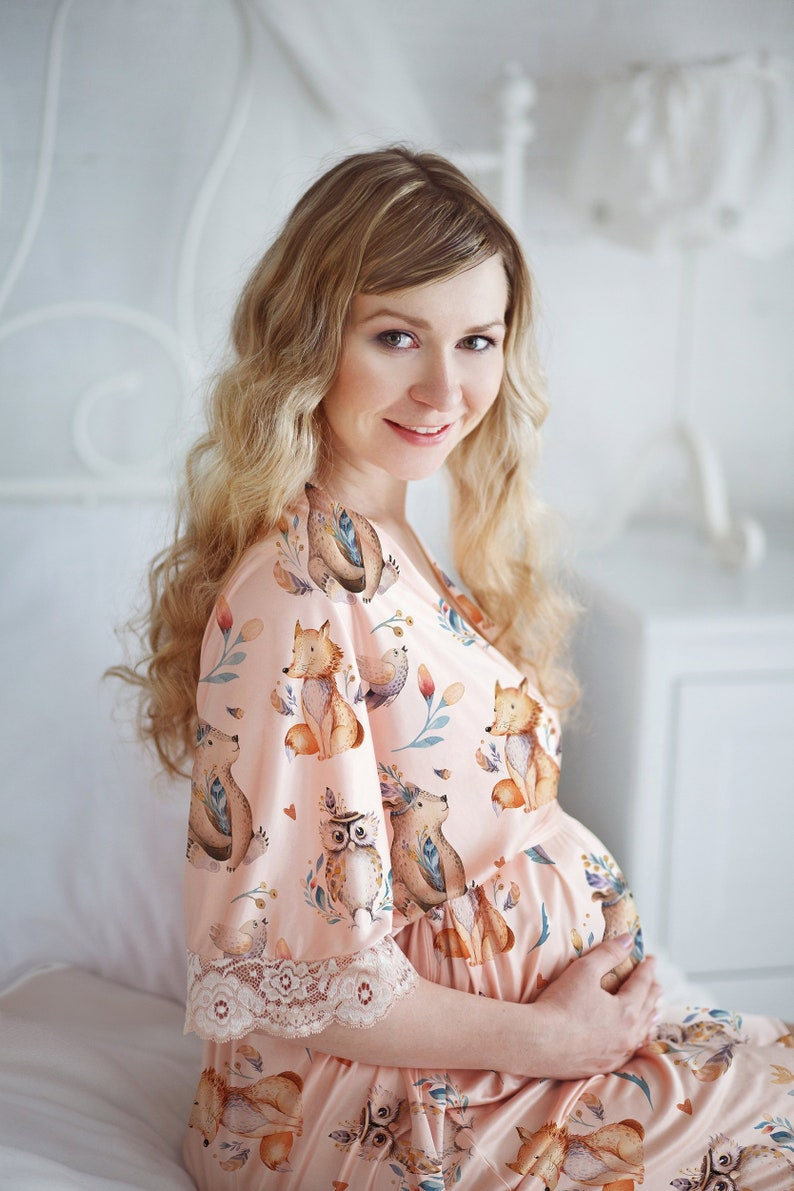a7d21d599 Rose gold maternity set with watercolor animals highly