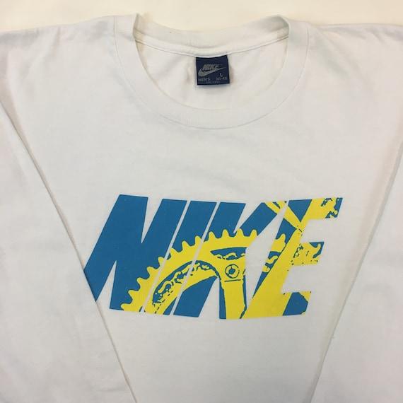 1980s Nike Cycling Logo Longsleeve T-Shirt