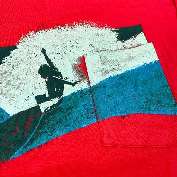 1970s Surf Longsleeve Pocket T-Shirt - image 4
