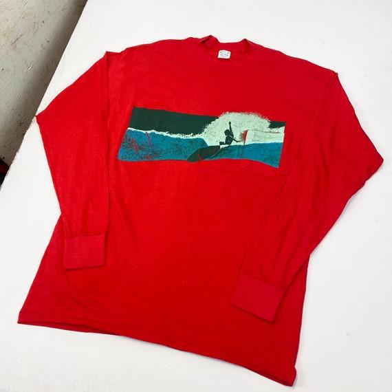 1970s Surf Longsleeve Pocket T-Shirt - image 3