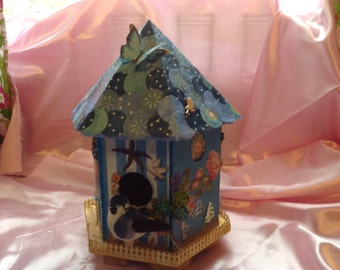 Mixed Media Nautical Birdhouse