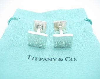 b3225822e Tiffany & Co. Sterling Silver Notes Cuff Links - Pouch