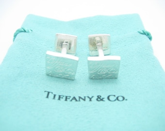 b18e7300d Tiffany & Co. Sterling Silver Notes Cuff Links - Pouch
