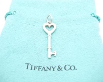 3d7d5d1a9 Tiffany & Co. Sterling Silver Heart Key Pendant - Pouch