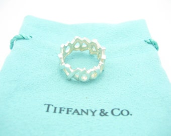 2f9e82a37 Tiffany & Co. Sterling Silver Paloma Picasso XO Hugs and Kisses Ring Size 5  - Pouch