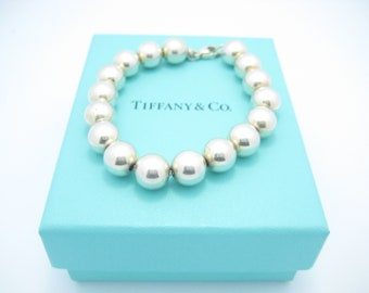 d65d46739 Tiffany & Co. Sterling Silver Bead Ball Bracelet 7 1/4