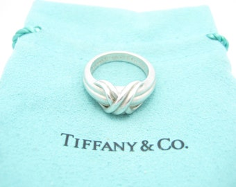 11ecc560e Tiffany & Co. Sterling Silver Signature X Ring Size 6 1/2 - Pouch