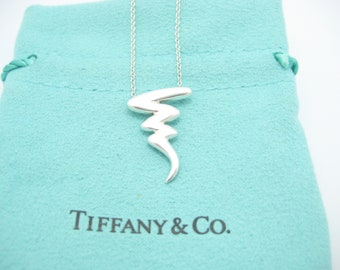 f4d460d29 Tiffany & Co. Paloma Picasso Sterling Silver Scribble Zig Zag Necklace 16