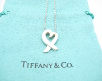 4641d8a18 Tiffany & Co. Sterling Silver Paloma Picasso Small Loving Heart Pendant  Necklace 16