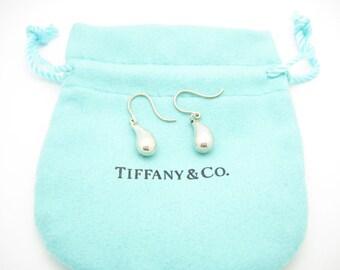 7762655d8 Tiffany & Co. Sterling Silver Elsa Peretti Teardrop Dangle Drop Earrings -  Pouch