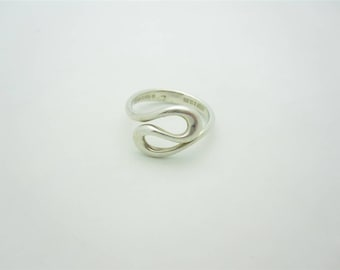 5d4531941 Tiffany & Co. Sterling Silver Elsa Peretti Open Wave Ring Size 5