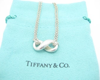 dfe845b50 Tiffany & Co. Sterling Silver Infinity Pendant Necklace 15