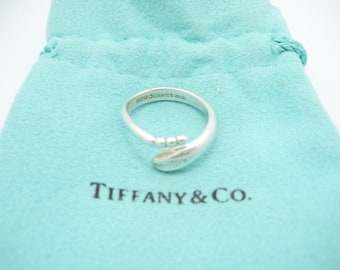 2c6999912 Tiffany & Co. Sterling Silver Elsa Peretti Snake Band Ring Size 7 - Pouch
